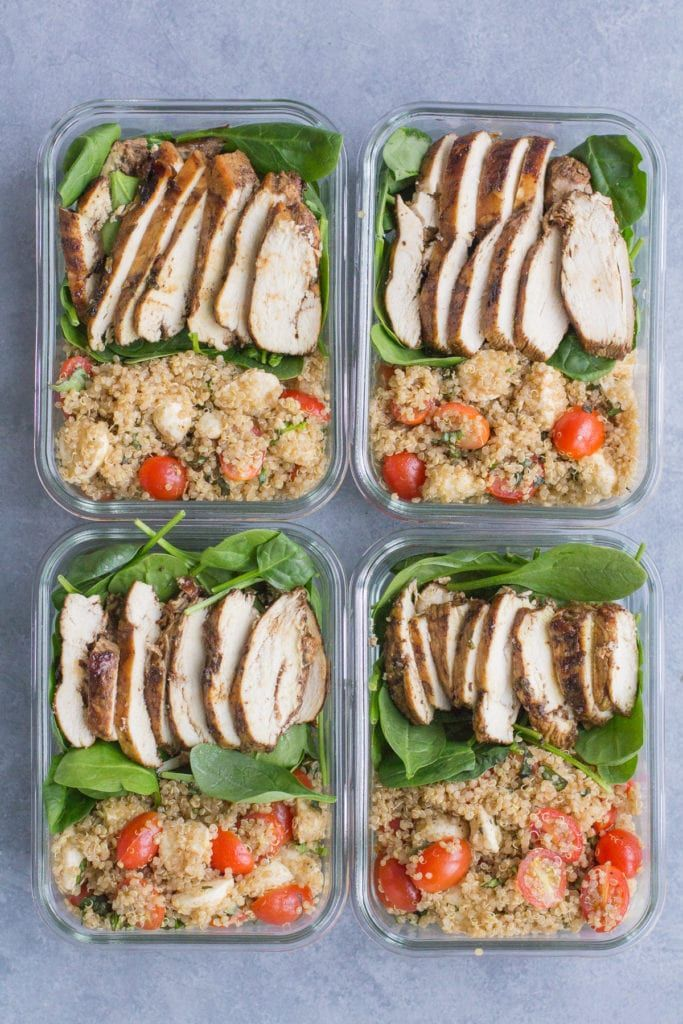 Chicken Caprese Quinoa Meal Prep Bowls  The Clean Eating Couple