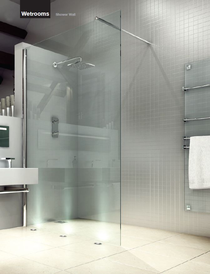 bathroms with large glass showers photos | are here: AQVA Bathrooms ...