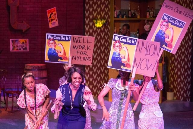 """Sylvia Howard plays Edith Hatchett in The Woodford Theatre's production of the Fats Waller revue """"Ain't Misbehavin"""" in Versailles, Ky. on May 5, 2015. Photo by Mark Mahan"""