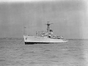 HMS Cook (F-638) - 1945, was a Bay-class anti-aircraft frigate of the British Royal Navy, named for the explorer James Cook, which served as a survey ship, mostly in the Pacific Ocean from 1950 until 1964