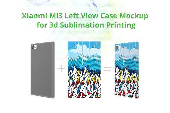 Xiaomi Mi 3 3dCase Mock-up by VecRas on @creativemarket