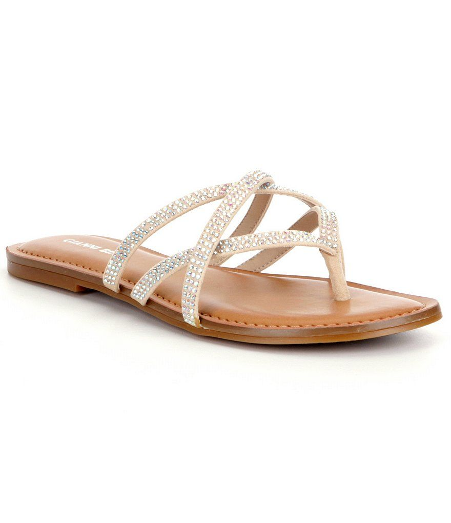 662f55b8787b Gianni Bini Kindi Jeweled Sandals (Bought these. Love these ...