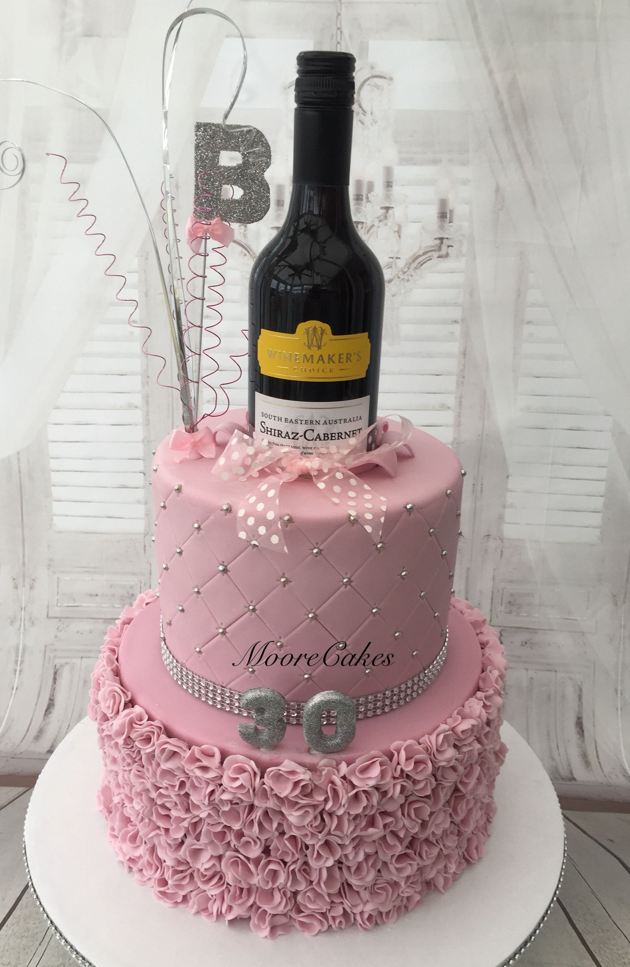 Fine 30Th Birthday Wine Bottle Cake With Images Wine Bottle Cake Funny Birthday Cards Online Ioscodamsfinfo