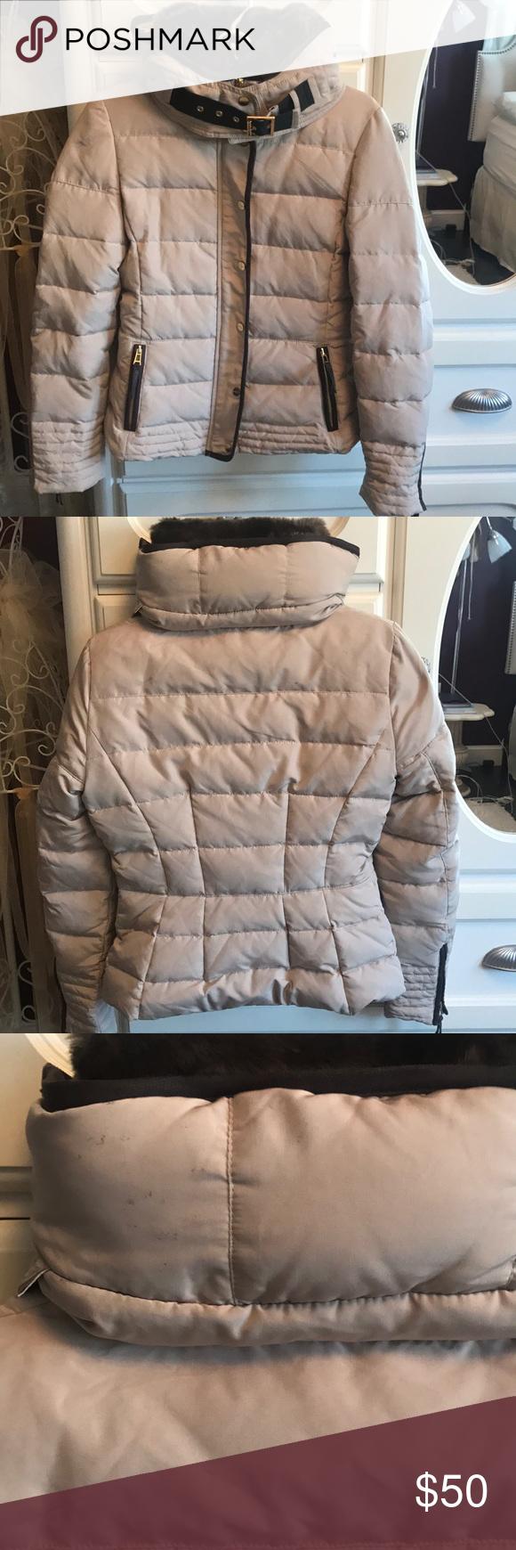 Zara Sand Hooded Puffer Jacket With Buckle Jackets Zara Winter Jackets [ 1740 x 580 Pixel ]