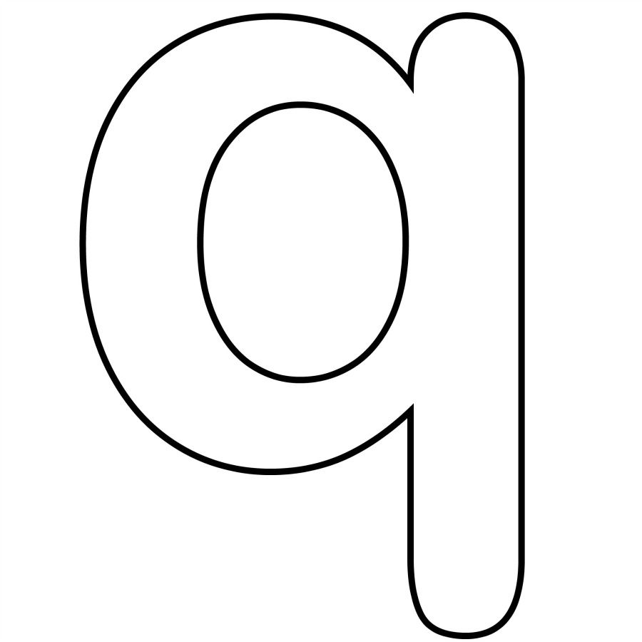 Lowercase Q Coloring Pages Coloring