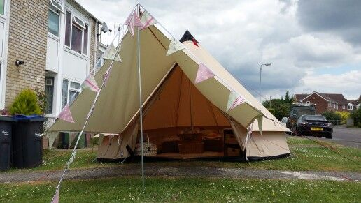 With Tarp On Front Camping Glamping Tent Tent Camping