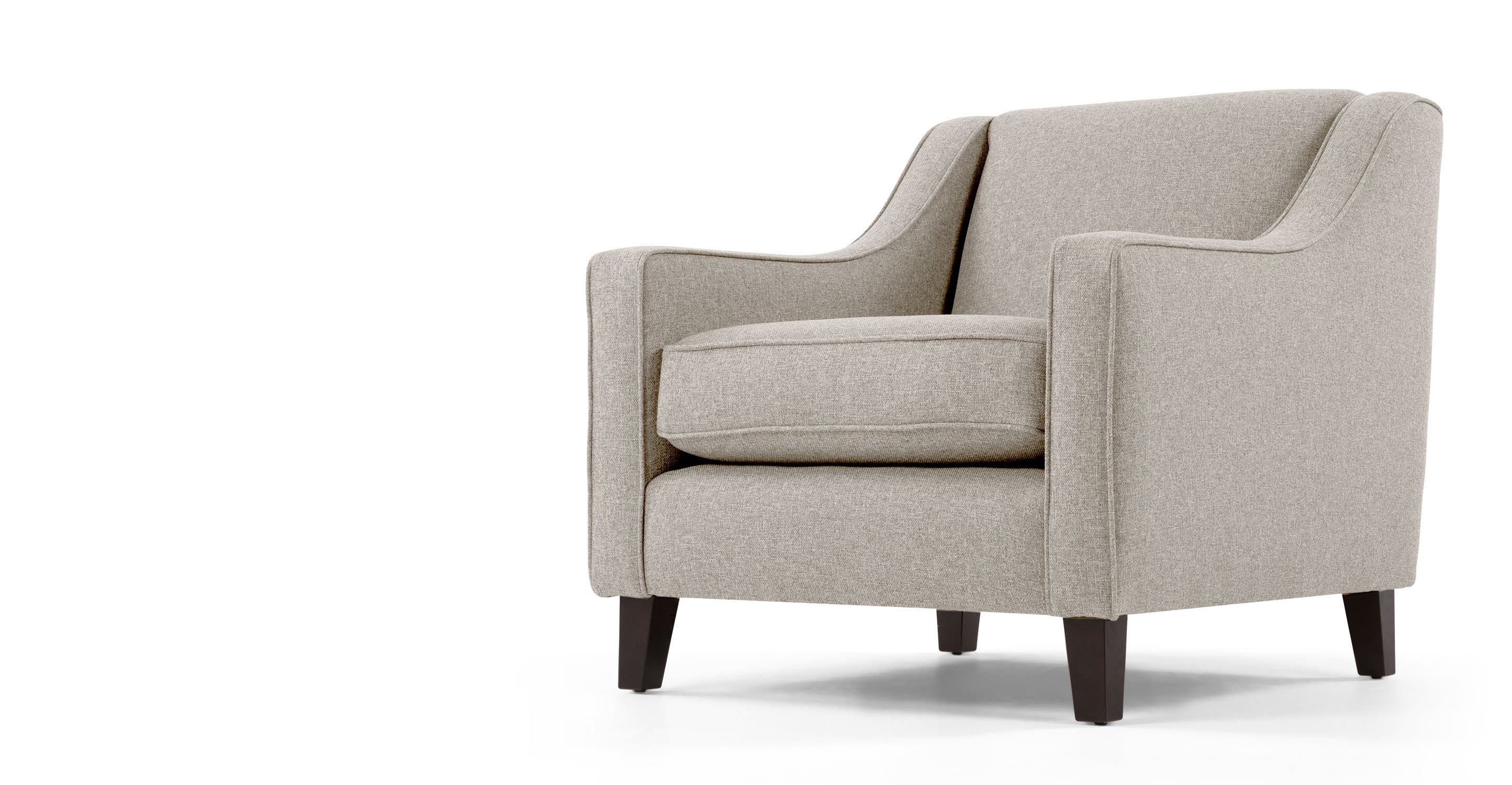 Halston Armchair, Pebble Weave | made.com | Armchair design
