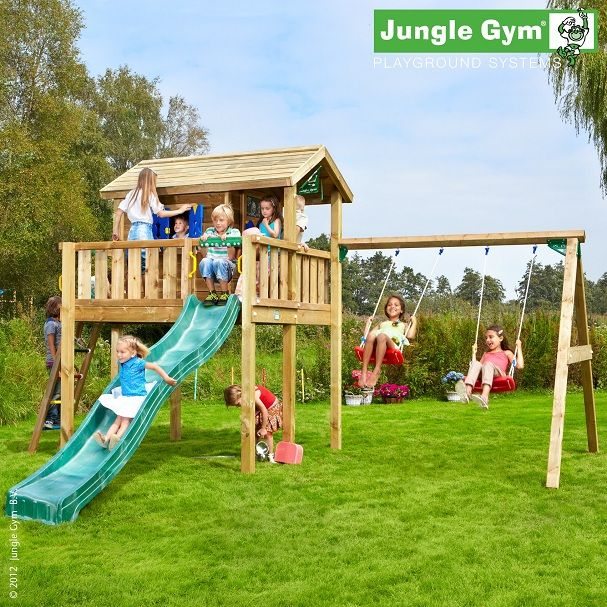 Tiger Jungle Gym playground with wooden house – Ogrodos …