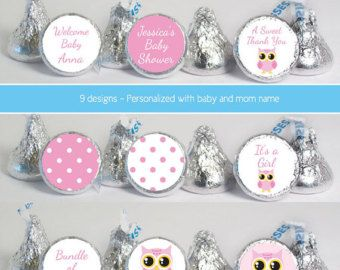 candy stickers No.k18G baby shower favors by digitaldoodlebug