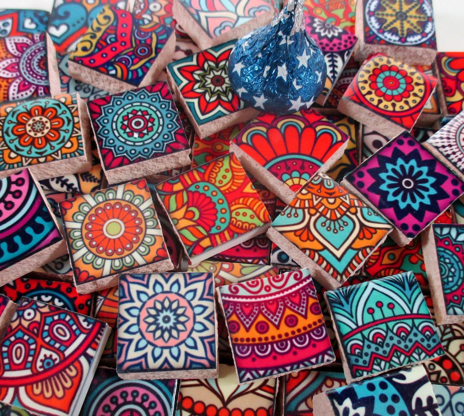 Mosaico In Ceramica Piastrelle Piastrelle Marocchine Boho Etsy Boho Tiles Ceramic Mosaic Tile Mosaic Art