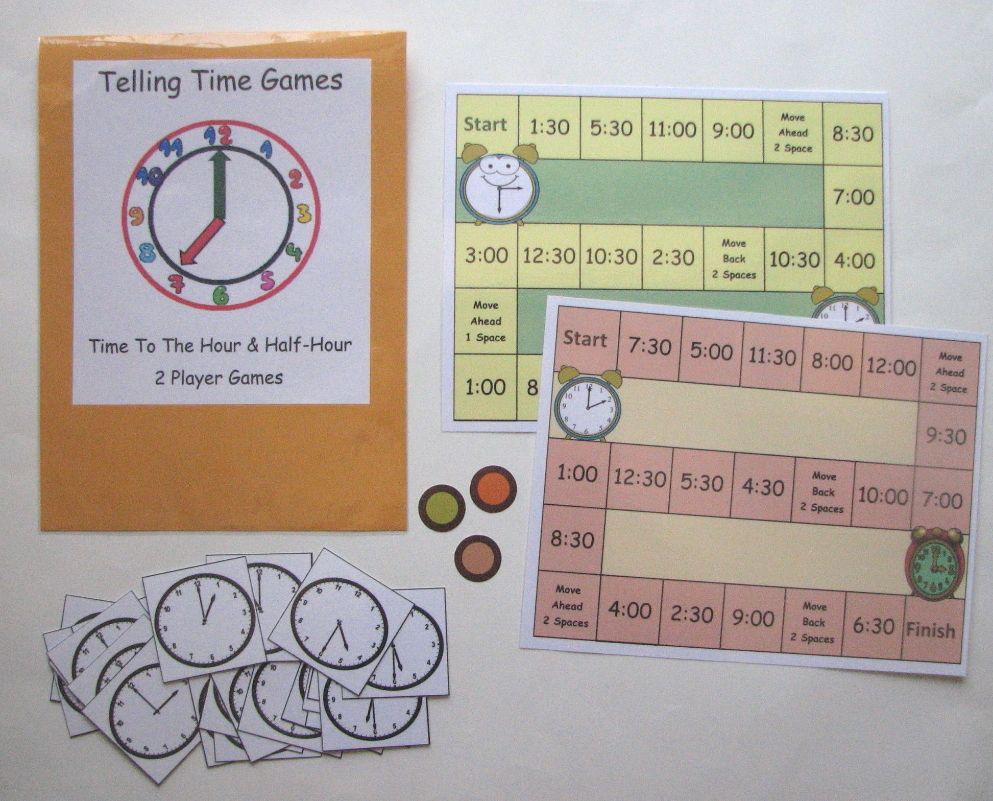 Time To The Hour Amp Half Hour Children Can Practice And