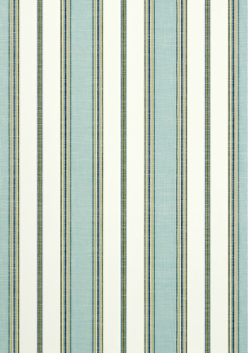 Bohemian Stripe #wallpaper and coordinating #fabric in Coastal Blue from the…