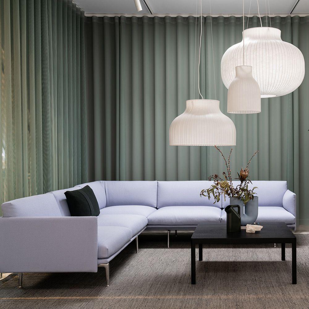 Scandinavian Interior Inspiration From Muuto Embodying Refined And Elegant Design Is The Outline Corn In 2020 Scandinavian Sofa Design Living Room Designs Corner Sofa
