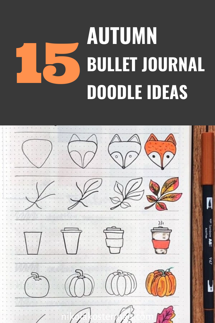 15 SIMPLE FALL & HALLOWEEN BULLET JOURNAL DOODLES