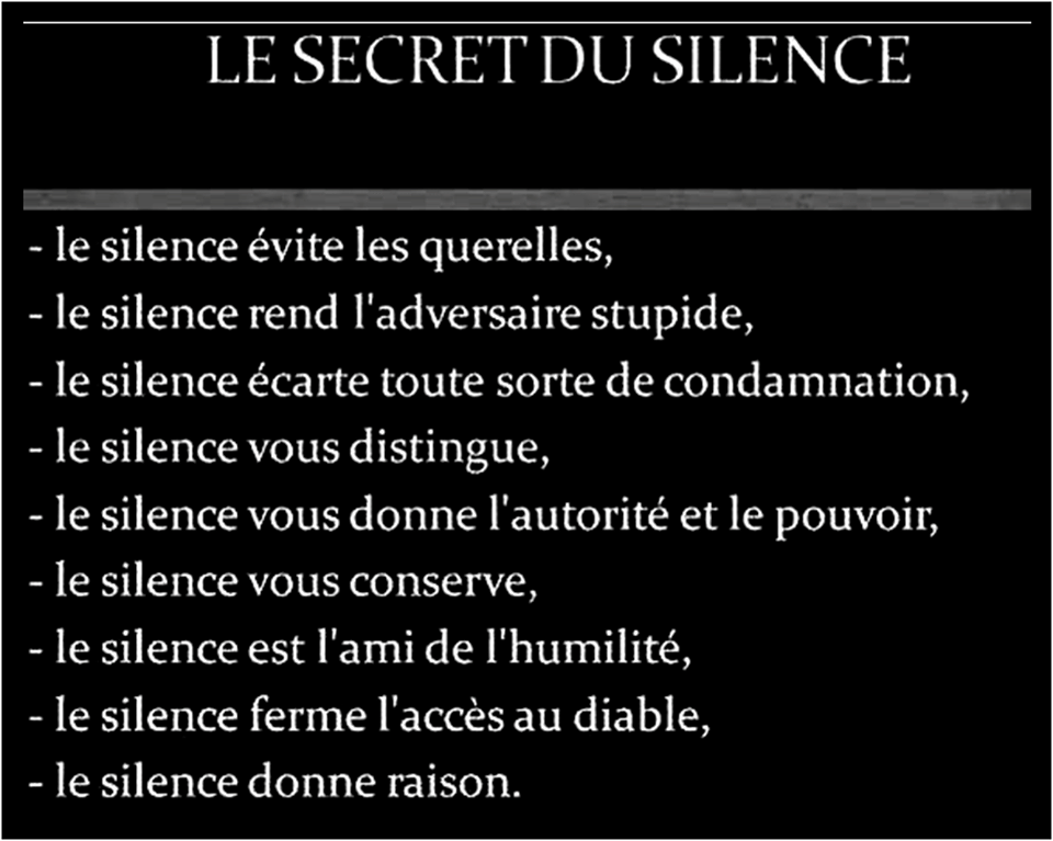 Le Secret Du Silence French Quotes Quotes Silence