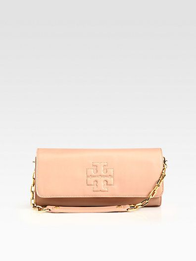 Tory Burch E Leather East West Convertible Clutch