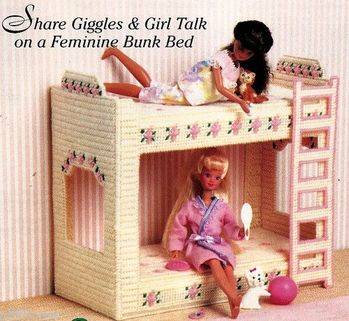 Barbie Fashion Doll Slumber Party Bunk Bed Plastic Canvas Pattern