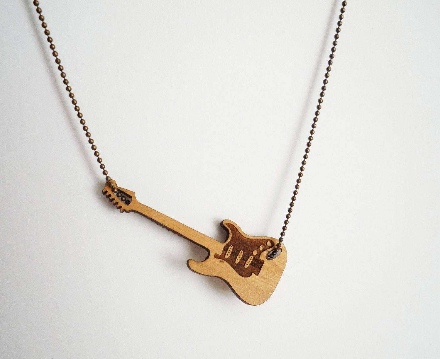 products color necklaces punk pendants hiphop necklace music guitar for men pendant women charm electric gold trend