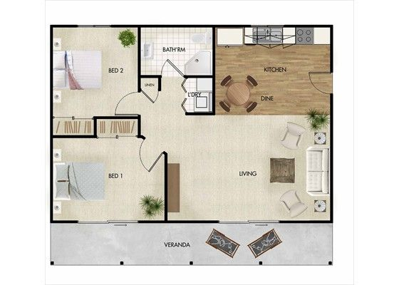 Appropriate square metre for 2 bedroom apartment google for 2 bedroom granny flat plans