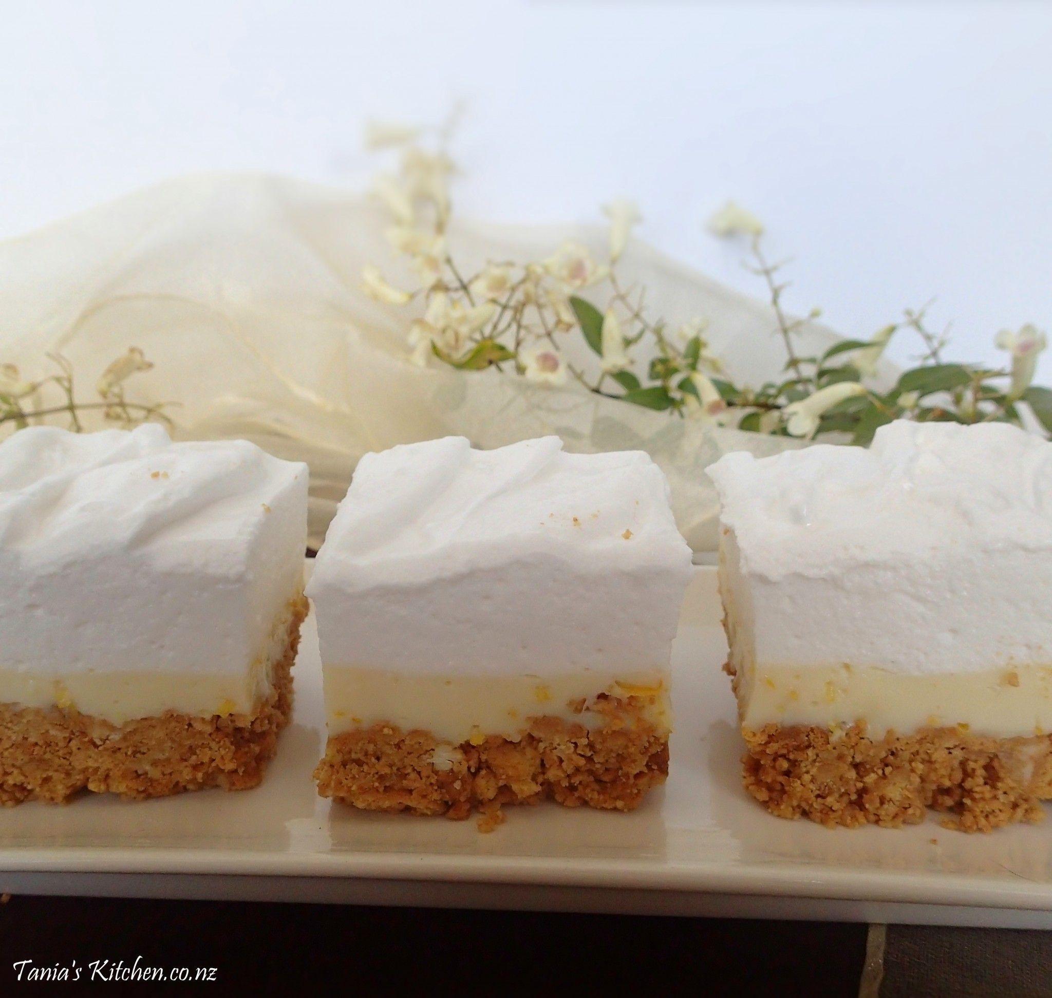 Fluffy Marshmallow Slice Tania S Kitchen Recipe Yummy Cheesecake Marshmallow Slice Baking