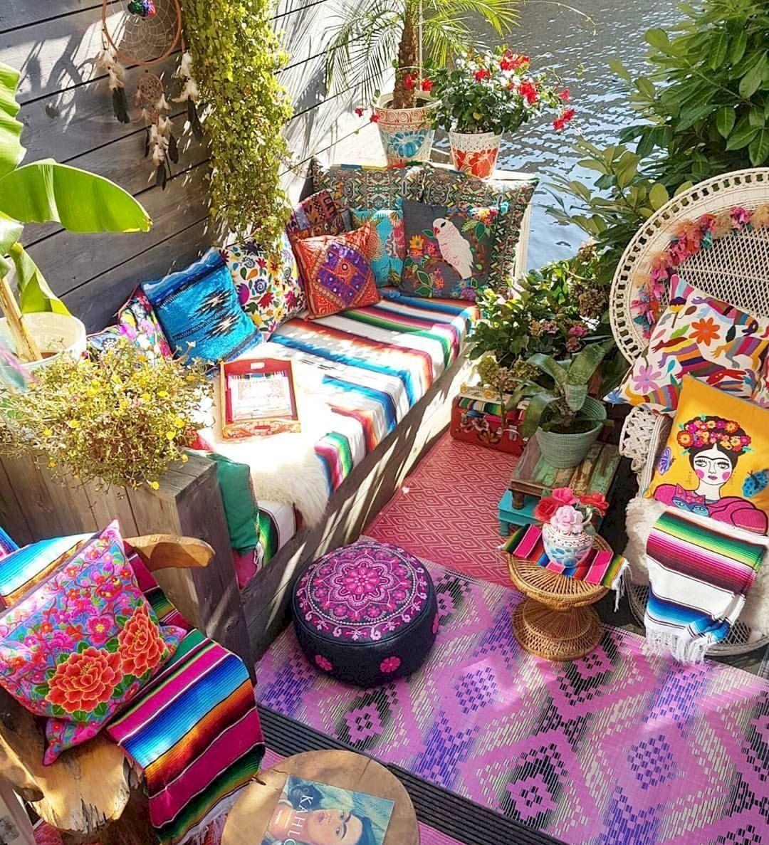 44 Best Bohemian Garden For Summer Bohemian Garden Outdoor Decor Backyard Boho Patio