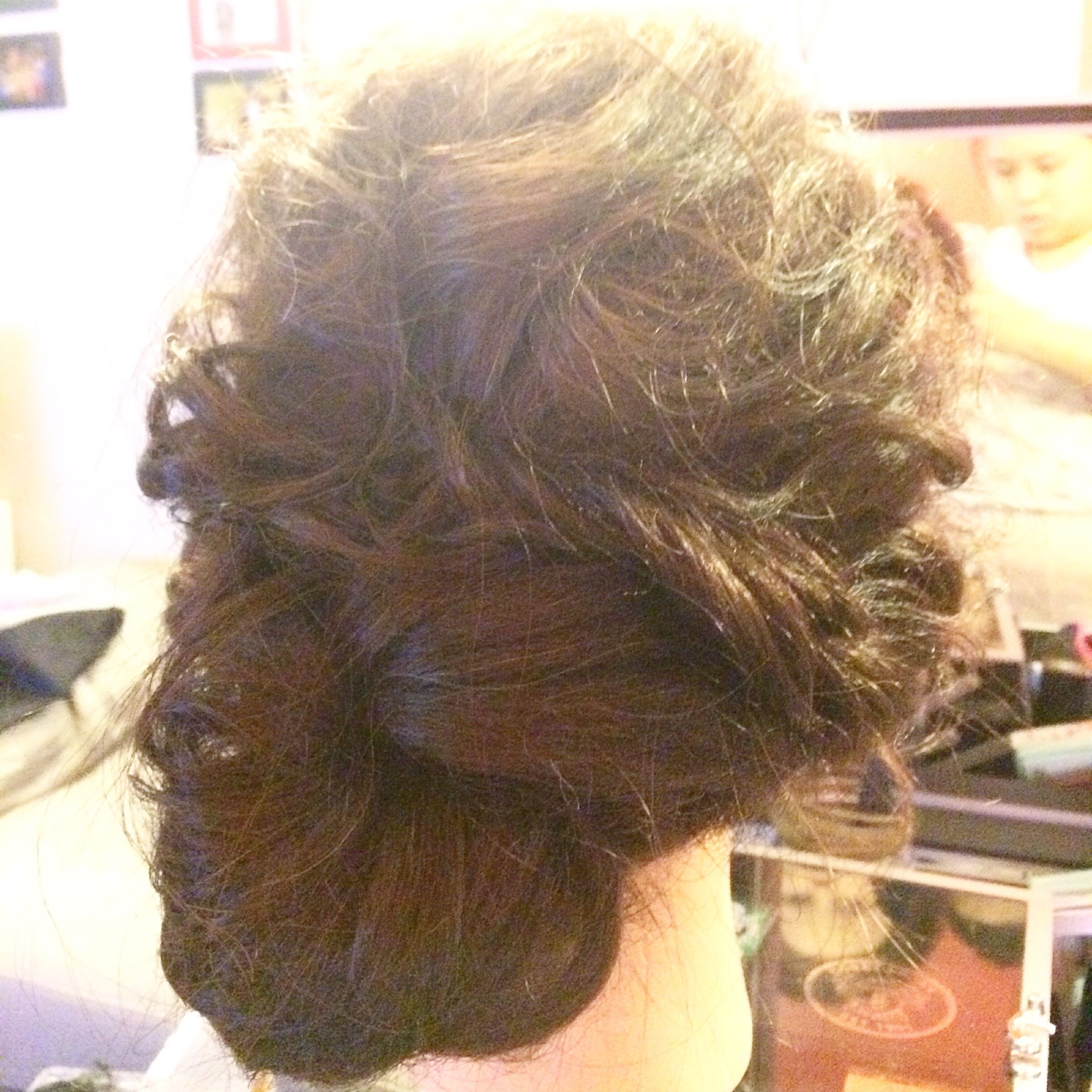 Messy twirl #updo by #dlouvermakeup