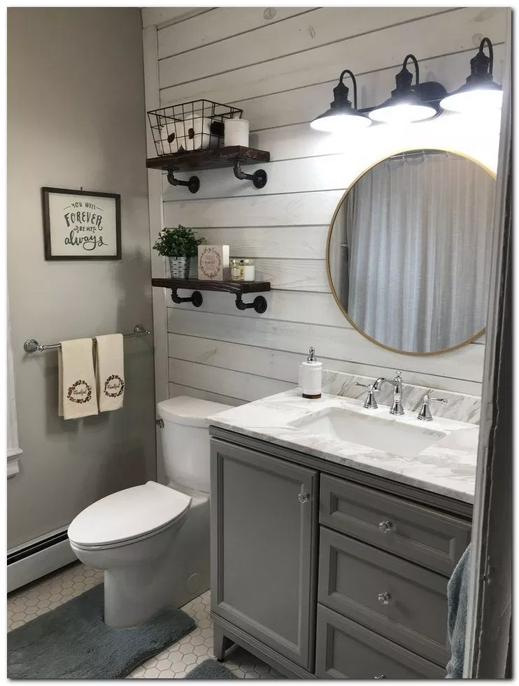 37 Small Bathroom Decor Ideas On A Budget Bathroomdecor Bathroomideas Bathroomdesign Home And Bathroom Farmhouse Style Small Bathroom Decor Bathroom Decor