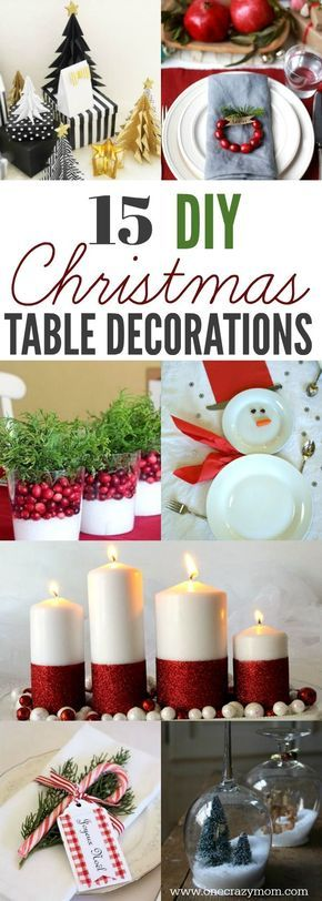 DIY Christmas Table Decorations - 15 Simple Holiday Table - christmas table decorations
