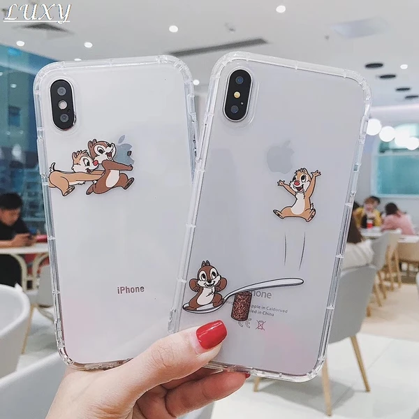 Cartoon Chip Dale Squirrel Transparent Phone Case Cover For Iphone 11 Pro 7 8 6 S Plus X Xs Max Xr Cute Game Soft Clear Coque In 2020 Transparent Phone Case