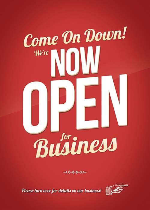 Yes We Re Open Sign Template Download This Printable Open Sign Template And Position It On The Entrance Door Of Your Sho Sign Templates Open Signs Templates