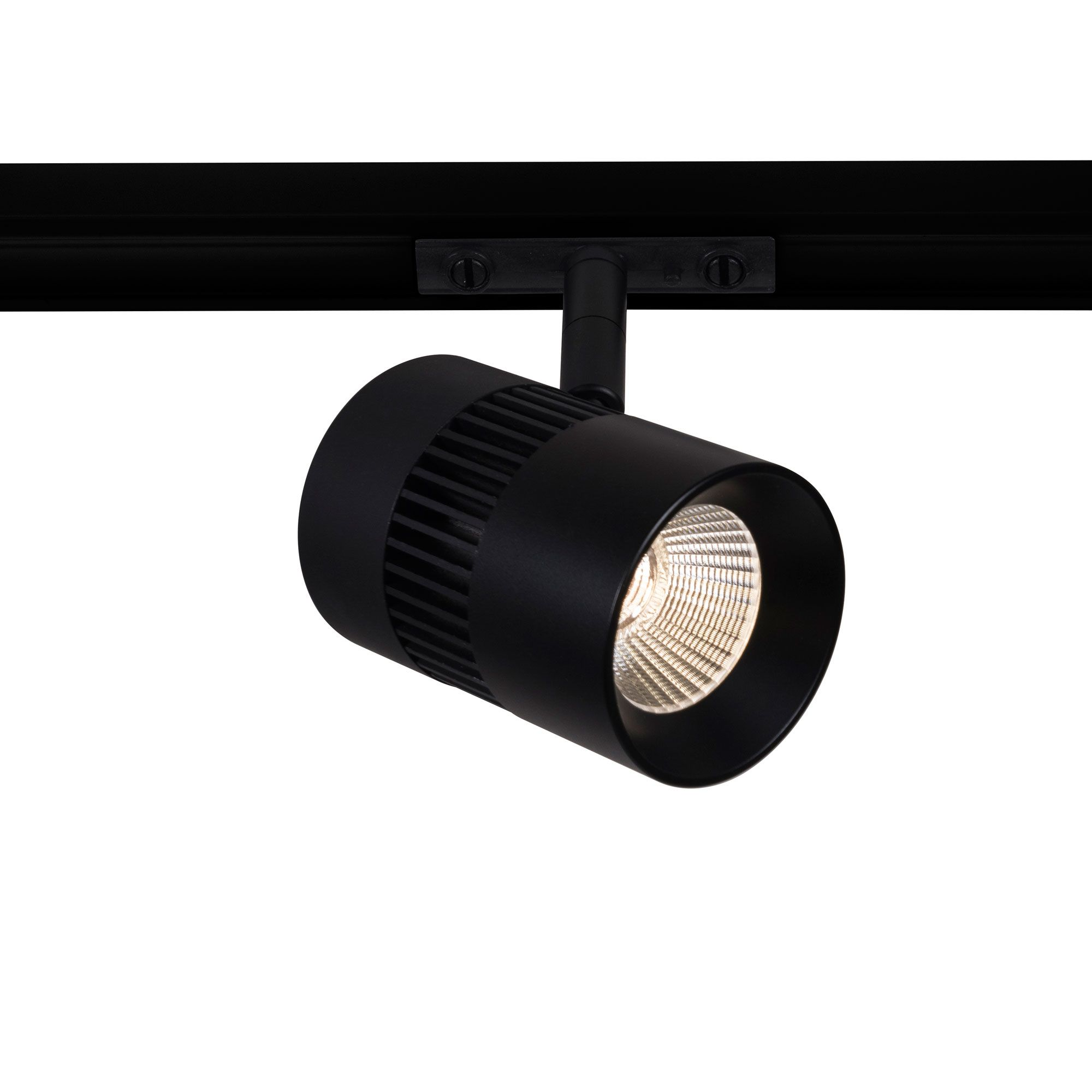 The radiant medium 24vdc led track head is made of cast aluminum available in two sizes