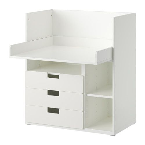 Wit Kinderbureau Ikea.Stuva Bureau Met 3 Lades Wit Ikea Kinder Bureau Ikea