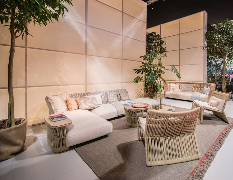 loungemoebel garten beistelltisch rattan ecksofa Terrasse Pinterest