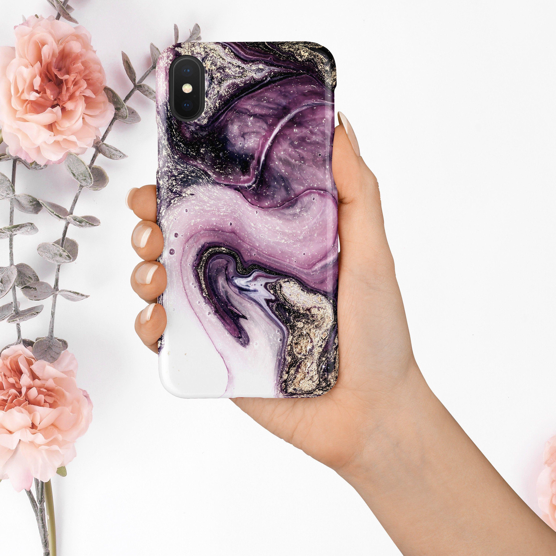 iPhone 12 Pro Case Purple White Marble iPhone 11 Pro Max Case iPhone SE Case iPhone Xs Max Case Gold iPhone 7 Plus Case XR Xs CaseA109