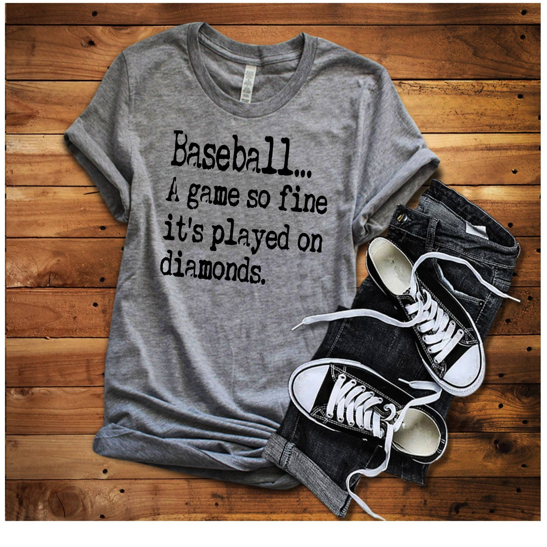 64e54140 A Game So Fine It's Played On Diamonds Shirt, Baseball Shirt, Baseball Mom  Shirt, Baseball Game Shirt, Game day shirt, Softball Shirt, by  SpunkySparkles on ...