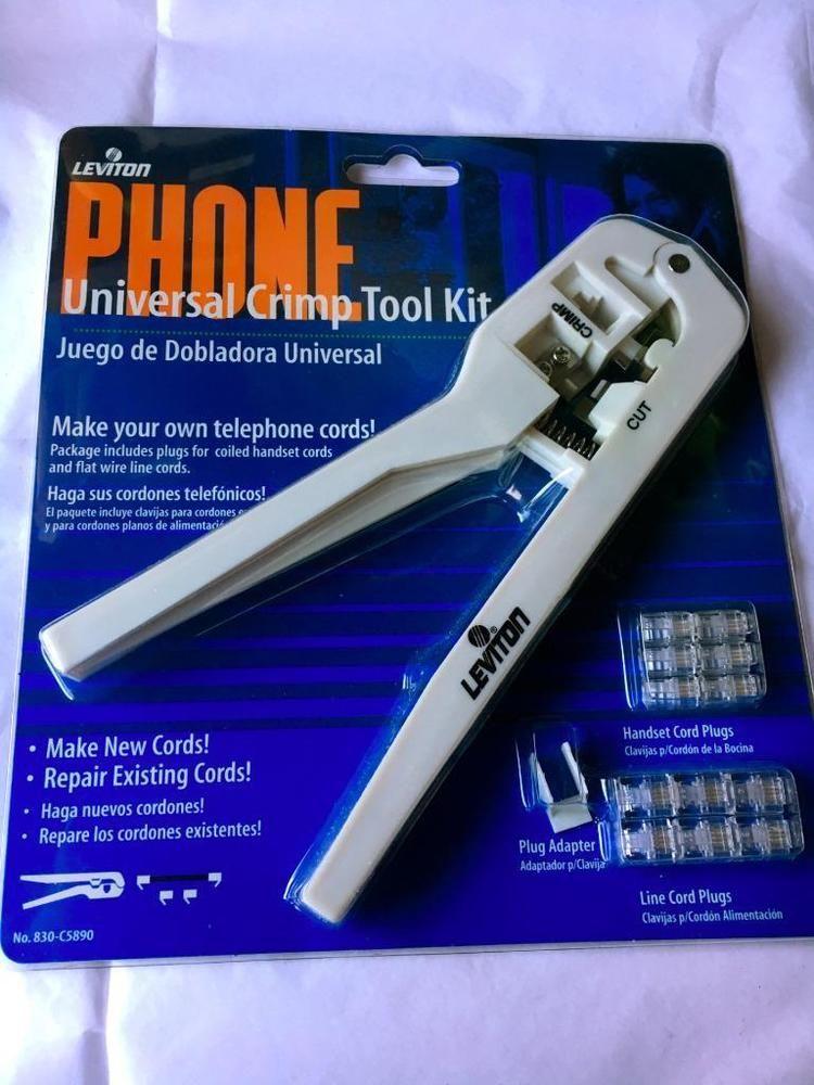 Leviton Universal Crimp Tool 830-C5890~ BRAND NEW~FREE SHIPPING ...
