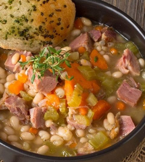 All Recipes Ham And Bean Soup