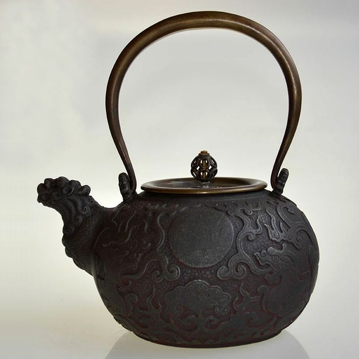 Large size dragon head japanese style cast iron teapot japanese cast iron teapots pinterest - Cast iron teapot dragon ...