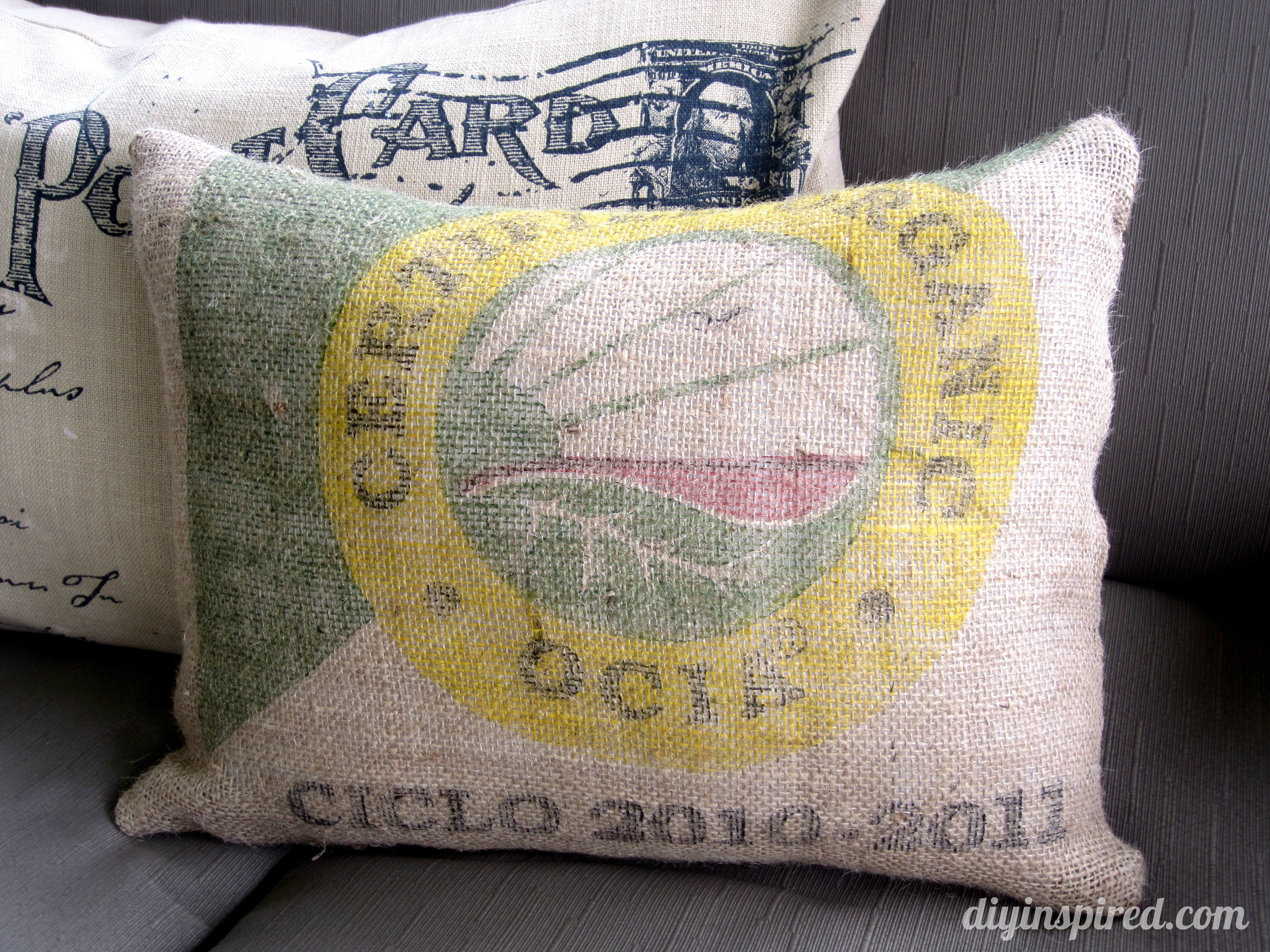 Burlap Sack Pillow  Diy Inspired