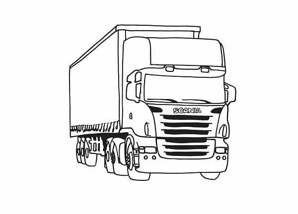 Trucks Luxury Scania Trailer Truck On Dump Truck Coloring Page Jpg Truck Coloring Pages Semi Trucks Tractor Trailers