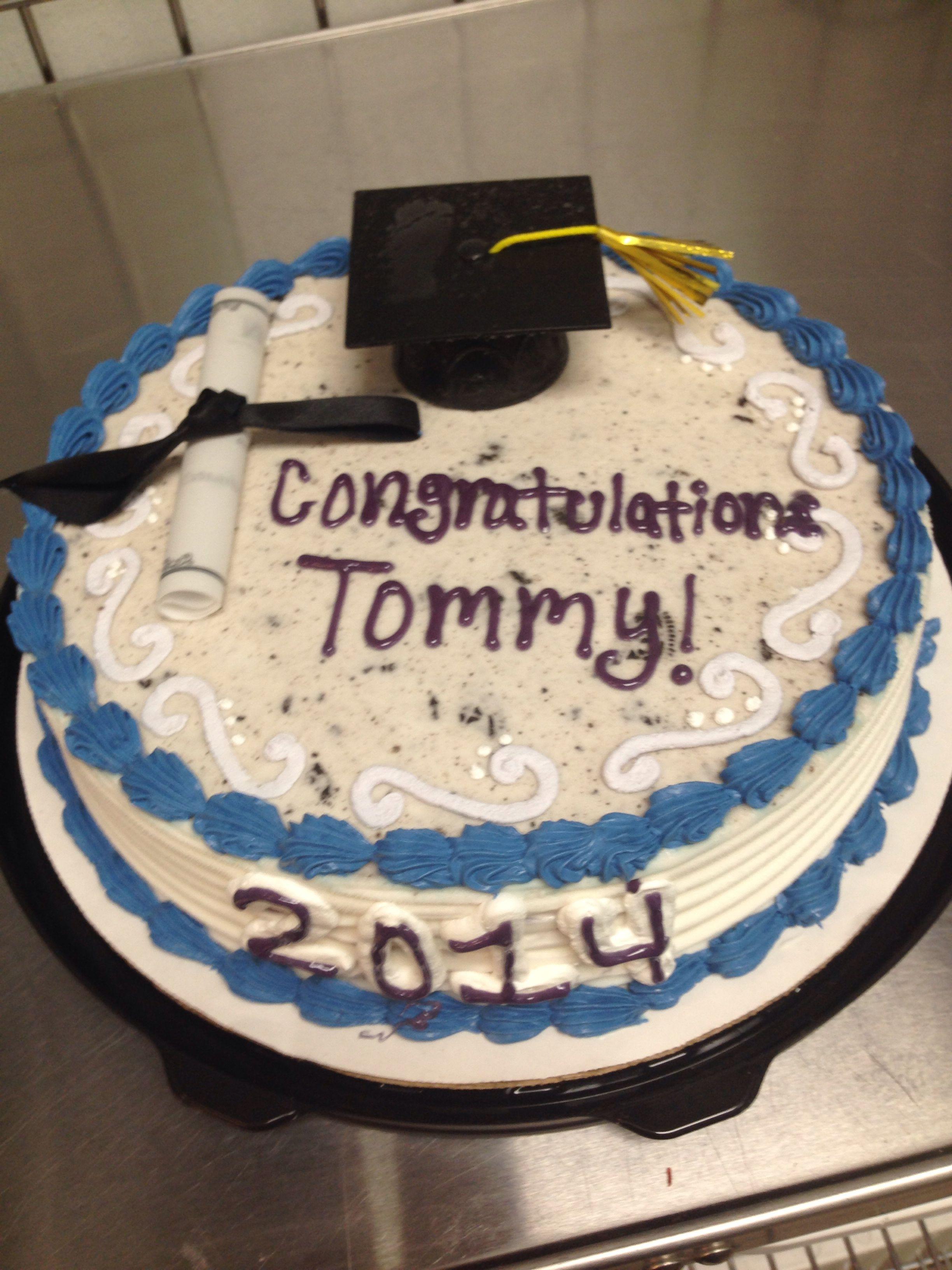 Graduation ice cream cake cake ice cream cake cream cake
