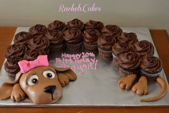 Puppy Dog Pull Apart Cupcake Cake Birthday Blowouts Pinterest