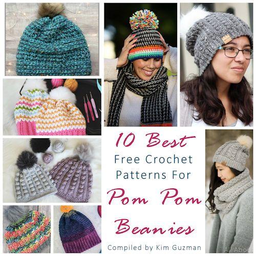 Link Blast 10 Best Free Crochet Patterns For Pom Pom Beanies