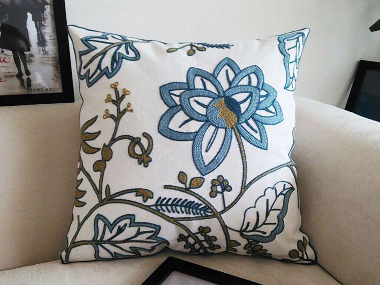 US $22.99 |Handmade embroidery flower embroidered pillow Capa de almofada El conjunto de bag set pillow|pillow cover|bag carbonbag pouch - AliExpress