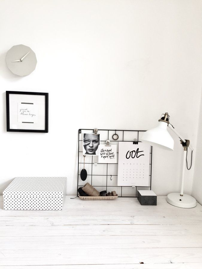 Homeoffice black \ white Interior design inspiration, Spaces and - homeoffice einrichtung ideen interieur