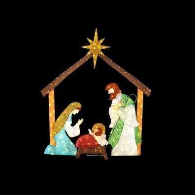 66 in. LED Lighted Tinsel Nativity Scene   Christmas   Pinterest ...