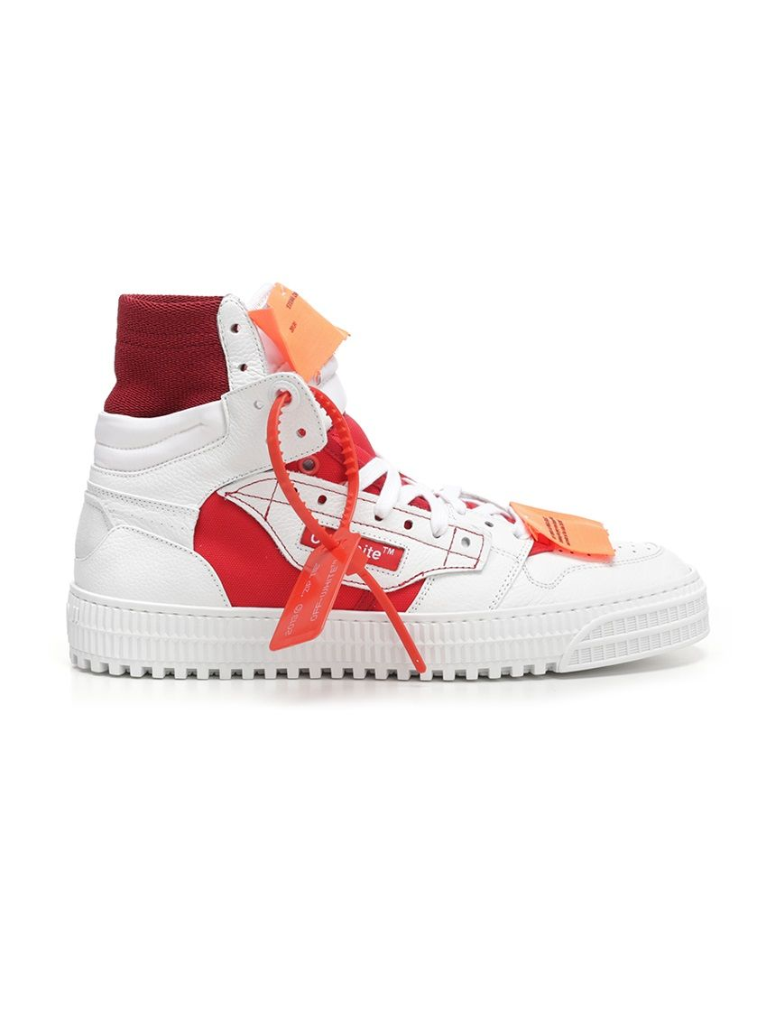more photos f35ba 7c262 OFF-WHITE 3.0 OFF-COURT LEATHER, CANVAS AND SHELL HIGH-TOP SNEAKERS.  off-white   shoes