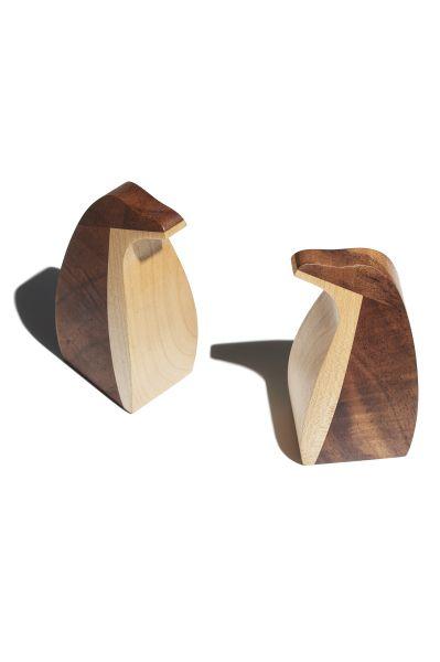 walnut sycamore wooden toys penguins curiostudio bespoke