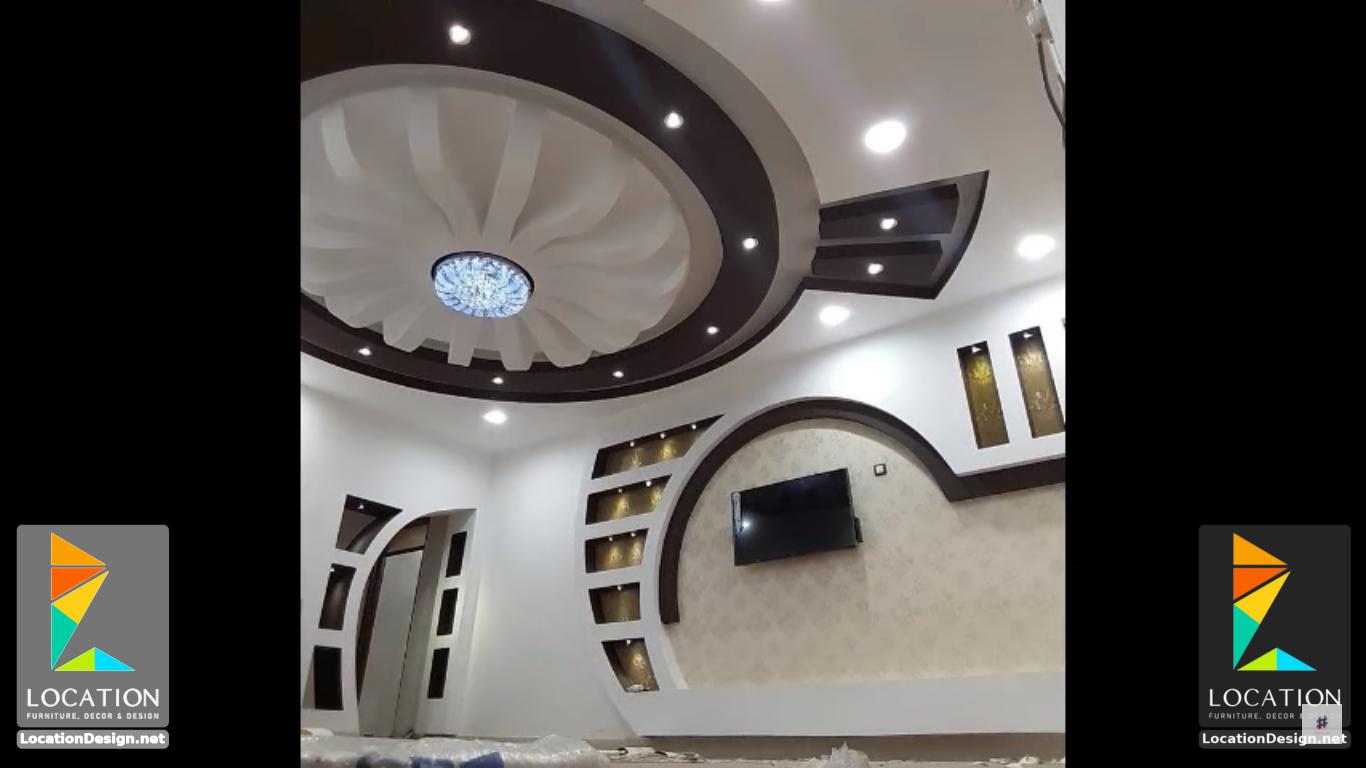 ديكورات جبس اسقف راقيه 2018 تصميمات جبسيه للشقق المودرن لوكشين ديزين نت Lighted Bathroom Mirror Ceiling Design Bathroom Mirror