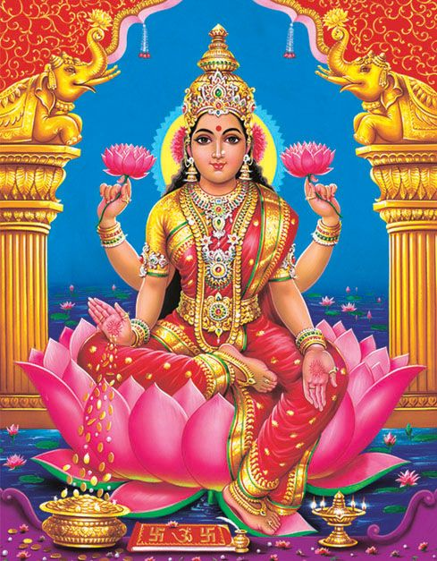 Goddess Lakshmi - She is generally called as Wealth God..